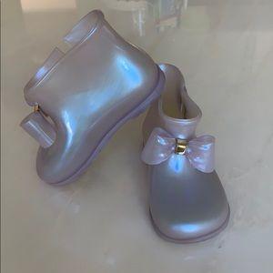 Mini Melissa boots size 10